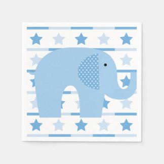 青い象の紙ナプキン スタンダードカクテルナプキン