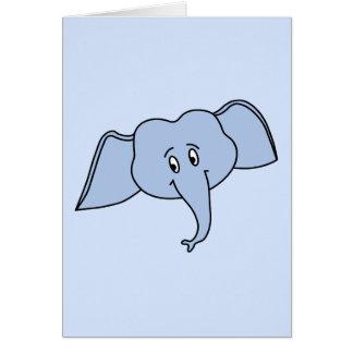 青い象の顔。 漫画 カード