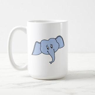 青い象の顔。 漫画 コーヒーマグカップ