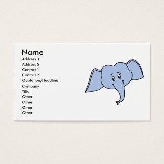 青い象の顔。 漫画 名刺