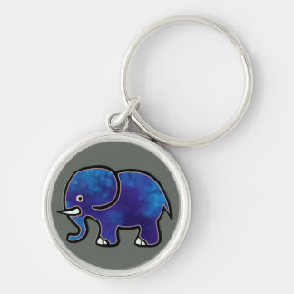 青い象 キーホルダー