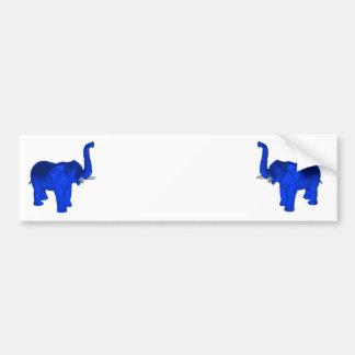 青い象 バンパーステッカー
