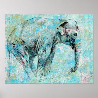 青い象 ポスター
