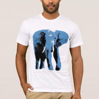 青い象 Tシャツ