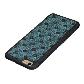 青い貝および花 CarvedメープルiPhone 6 PLUSバンパーケース