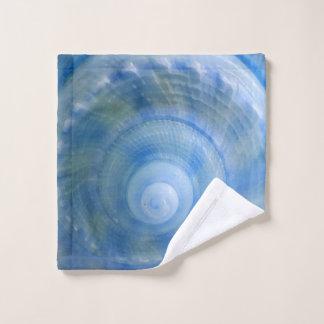 青い貝のデジタル混合メディア ウォッシュタオル