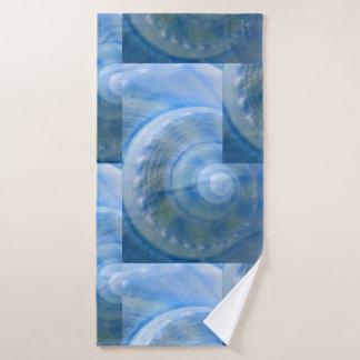 青い貝のデジタル混合メディア バスタオルセット