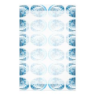 青い貝パターン 便箋