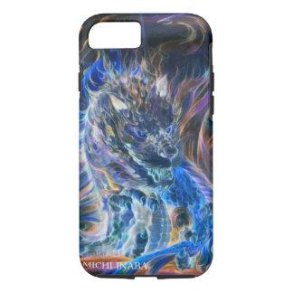 青い責任のドラゴンの青炎龍 iPhone 8/7ケース