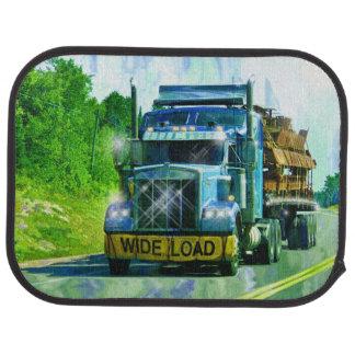 青い足場貨物自動車のトラック運転手の大きい装備 カーマット
