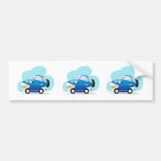 青い車 バンパーステッカー