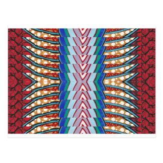 青い輝きのストリップのファッションの花型女性歌手-低価格の店 ポストカード
