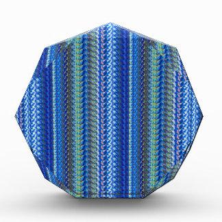 青い輝きパターンGOODluckのチャームのグラフィックのギフト 表彰盾