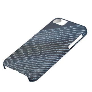 -青い輝き及びグリッター縞で飾ります iPhone5Cケース