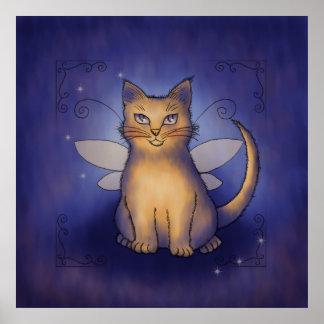 青い輝き猫 ポスター