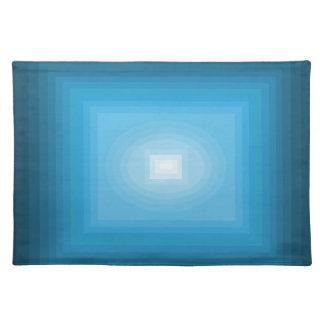 青い近代美術のデザインCricketDianeで浸される ランチョンマット
