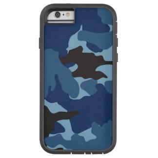 青い迷彩柄の軍のカムフラージュのXtremeのiPhone 6 6S iPhone 6 タフ・エクストリームケース