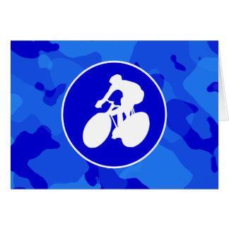 青い迷彩柄; カムフラージュのサイクリング カード