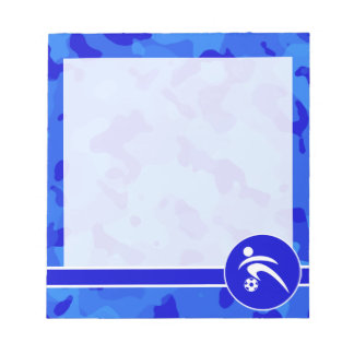 青い迷彩柄; カムフラージュのサッカー ノートパッド