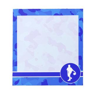 青い迷彩柄; カムフラージュのバスケットボール ノートパッド