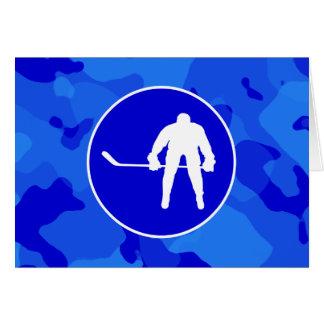 青い迷彩柄; カムフラージュのホッケー カード