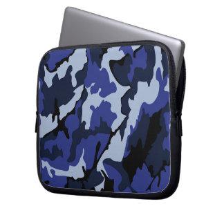 """青い迷彩柄、ネオプレン10""""ラップトップコンピュータの袖 ラップトップスリーブ"""