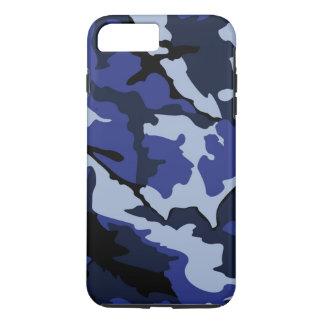 青い迷彩柄、堅いiPhone 7のプラスの場合 iPhone 8 Plus/7 Plusケース