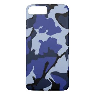 青い迷彩柄、iPhone 7のプラスのやっとそこに場合 iPhone 7 Plusケース