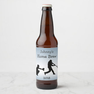 青い野球はビールラベルを遊ばします ビールラベル