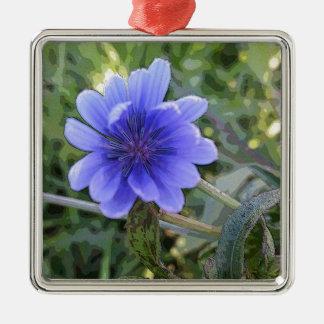 青い野生花 メタルオーナメント