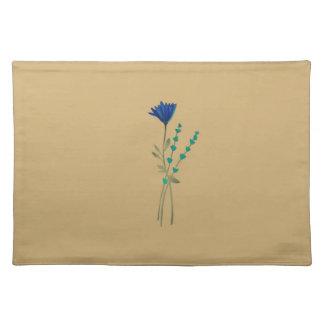 青い野生花 ランチョンマット