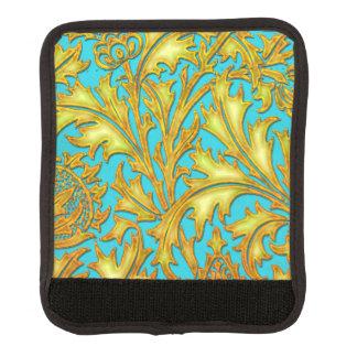 青い金ゴールドのアザミ ラゲッジ ハンドルラップ