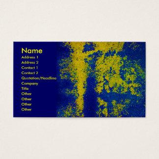 青い金ゴールドデザイナー名刺 名刺
