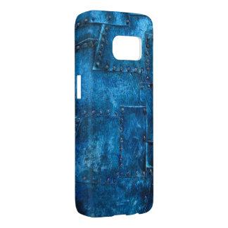 青い金属の質感 SAMSUNG GALAXY S7 ケース