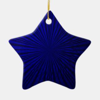 青い金属錯覚 セラミックオーナメント