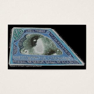 青い金銭19.5のCYDONIANS火星人のお金の間違い! 名刺