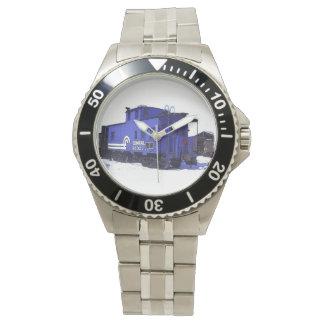 青い鉄道車掌車の腕時計 腕時計