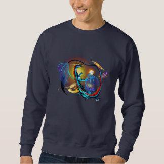 青い銀河系のドラゴンのワイシャツ スウェットシャツ