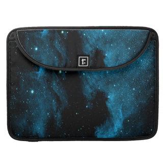 青い銀河系のプリント MacBook PROスリーブ