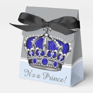 青い銀製の皇太子男の子のベビーシャワー フェイバーボックス