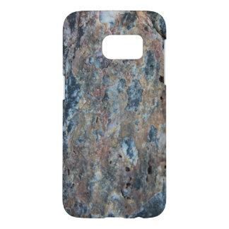 青い錆の黒の鉱物の質 SAMSUNG GALAXY S7 ケース