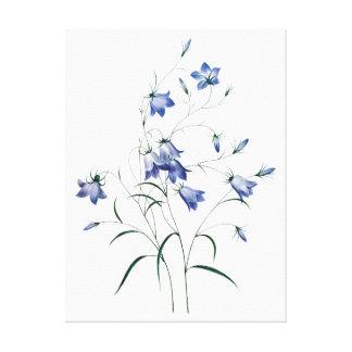 青い鐘、Redoute著青い花 キャンバスプリント
