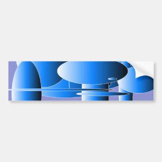 青い長円の近代美術 バンパーステッカー