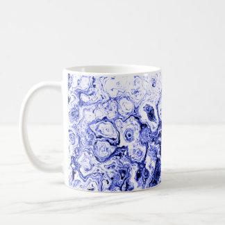 青い間隔デザイナーマグ2 コーヒーマグカップ