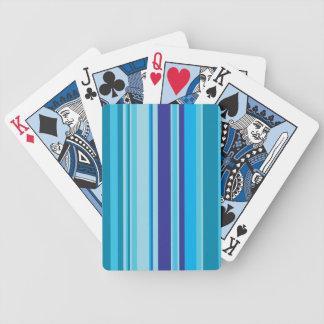 青い陰パターン背景で縞で飾ります バイスクルトランプ