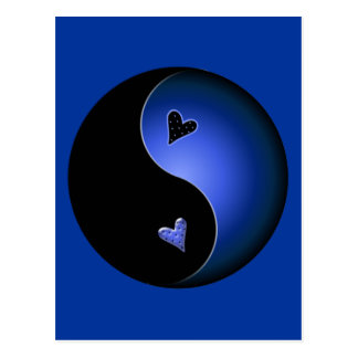 青い陰陽 ポストカード
