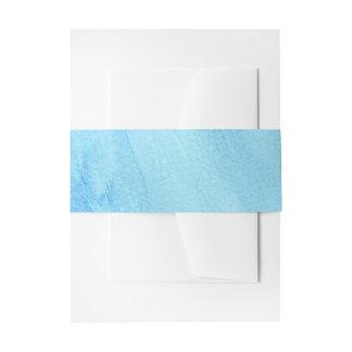 青い雨豪雨による雨水の水彩画のペンキ 招待状ベリーバンド