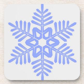 青い雪片のコースターセット コースター