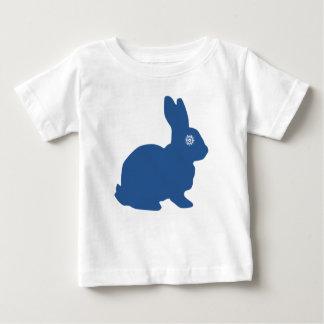 青い雪片のベビーのTシャツ ベビーTシャツ