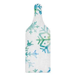 青い雪片の水彩画の芸術 カッティングボード